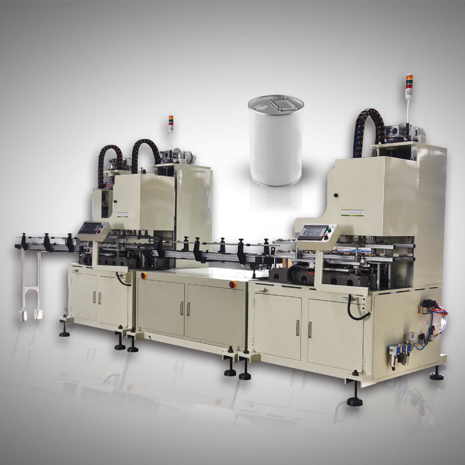 Full-Auto 0.1L-5L Round Can production Line-4
