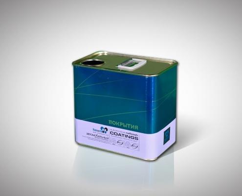 Semi Auto 1-5L Rectangular Can Production Line Application-4