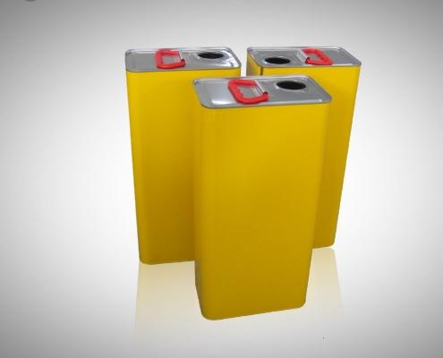 Semi Auto 1-5L Rectangular Can Production Line Application-5