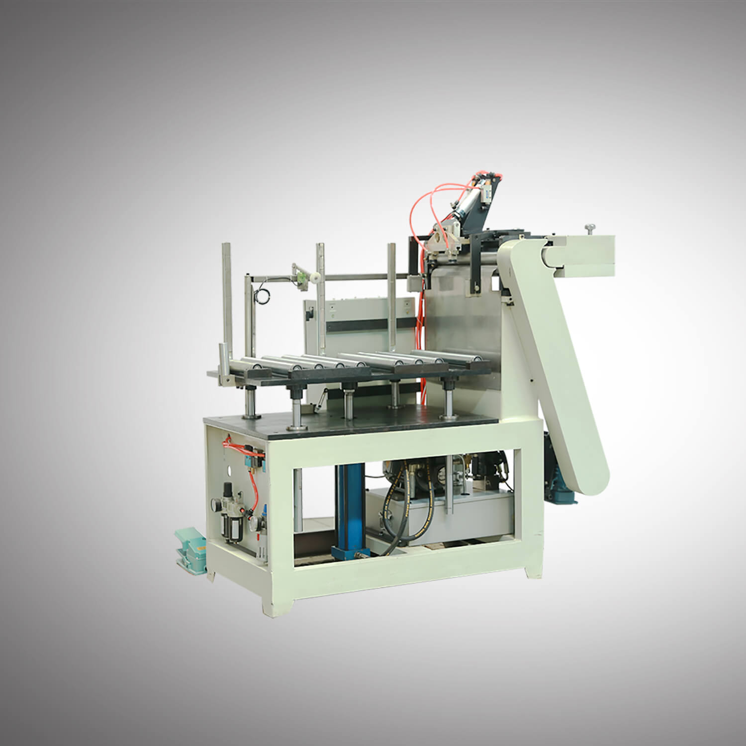 Semi Auto 10-25L Conical Round Can production line-2